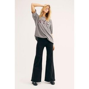 Free people Drapey a line pull on wide leg pants